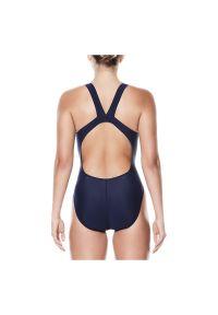 Strój pływacki damski Nike Poly NESS5021. Materiał: tkanina, dzianina, materiał. Długość: długie. Wzór: gładki