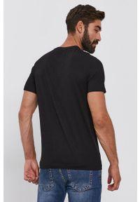 s.Oliver - s. Oliver - T-shirt bawełniany. Okazja: na co dzień. Kolor: czarny. Materiał: bawełna. Wzór: nadruk. Styl: casual