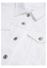 mango - Mango Kurtka jeansowa Vicky 17040814 Biały Regular Fit. Kolor: biały. Materiał: jeans