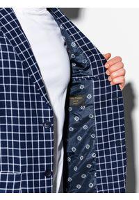Niebieska marynarka Ombre Clothing casualowa, na co dzień