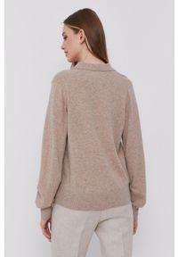 Samsoe & Samsoe - Samsoe Samsoe - Sweter. Okazja: na co dzień. Kolor: beżowy. Długość rękawa: długi rękaw. Długość: długie. Styl: casual #4