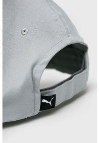 Szara czapka z daszkiem Puma gładkie