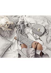 Szary kozaki Zapato wąskie, bez zapięcia, casualowy, w kolorowe wzory #5