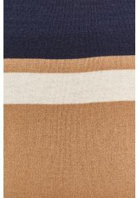Beżowy sweter Pennyblack z dekoltem w łódkę, na co dzień, z długim rękawem, casualowy