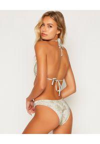 BEACH BUNNY - Top od bikini Allie Snake. Kolor: szary