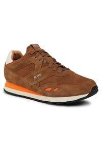 Brązowe sneakersy BOSS