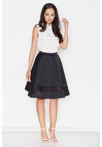 Czarna spódnica rozkloszowana Figl elegancka