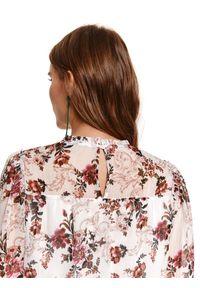 Kremowa bluzka TOP SECRET z długim rękawem, długa