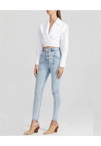 ACLER - Jeansy z wysokim stanem Blue Wash. Stan: podwyższony. Kolor: niebieski