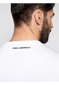 Karl Lagerfeld - KARL LAGERFELD Bluza Ikonik 705061 511951 Biały Regular Fit. Typ kołnierza: dekolt w karo. Kolor: biały
