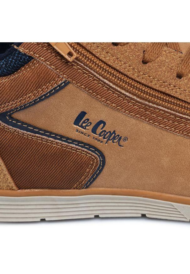Brązowe buty zimowe Lee Cooper casualowe, na co dzień