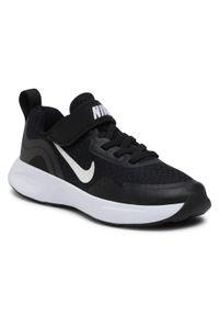 Czarne półbuty Nike z cholewką, na spacer, na rzepy
