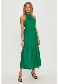Zielona sukienka Vila bez rękawów, prosta, casualowa, na co dzień