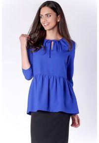 Niebieska bluzka z długim rękawem Nommo
