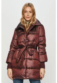 Fioletowa kurtka Trussardi Jeans bez kaptura, klasyczna