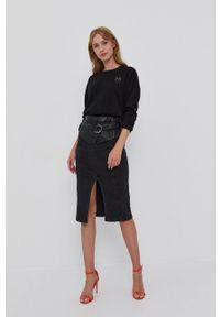 Pinko - Sweter wełniany. Okazja: na co dzień. Kolor: czarny. Materiał: wełna. Długość rękawa: długi rękaw. Długość: długie. Styl: casual