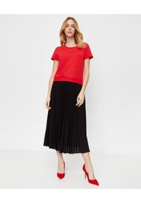 LA MANIA - Plisowana spódnica Lang w kolorze czarnym. Kolor: czarny. Materiał: materiał. Sezon: jesień. Styl: klasyczny #4