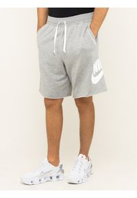 Nike Szorty materiałowe Nsw French Terry Alumni Logo AR2375 Szary Loose Fit. Kolor: szary. Materiał: materiał