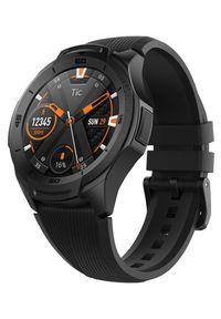 TICWATCH Zegarek Midnight black. Kolor: czarny. Styl: sportowy, militarny