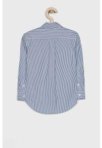 Niebieska koszula Polo Ralph Lauren na co dzień, długa, casualowa