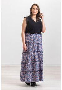 Spódnica Moda Size Plus Iwanek w kwiaty, na wiosnę, krótka