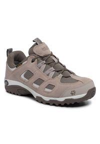Brązowe buty trekkingowe Jack Wolfskin z cholewką, trekkingowe