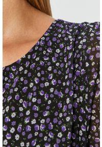 Fioletowa sukienka Haily's w kwiaty, mini