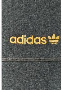 Szare spodnie dresowe adidas Originals z aplikacjami