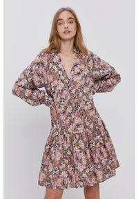 Y.A.S - Sukienka. Kolor: różowy. Materiał: tkanina. Długość rękawa: raglanowy rękaw. Typ sukienki: rozkloszowane