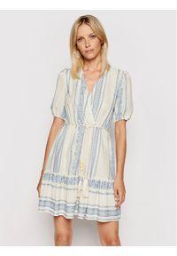 Rinascimento Sukienka codzienna CFC0103445003 Beżowy Regular Fit. Okazja: na co dzień. Kolor: beżowy. Typ sukienki: proste. Styl: casual