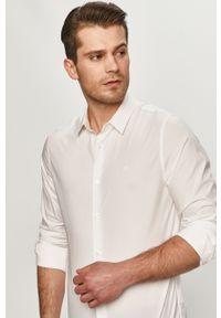 Biała koszula Calvin Klein Jeans klasyczna, z klasycznym kołnierzykiem, gładkie