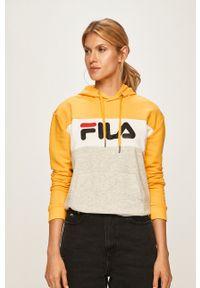 Fila - Bluza. Kolor: żółty. Materiał: materiał