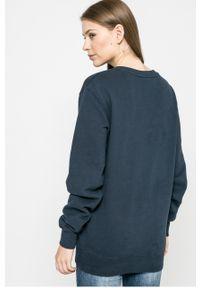 Niebieska bluza Ellesse na co dzień, bez kaptura, casualowa, z nadrukiem