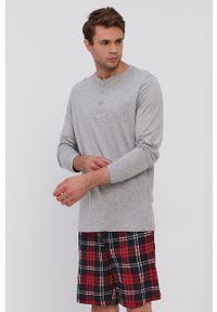 Brave Soul - Komplet piżamowy. Kolor: czerwony. Materiał: dzianina. Długość: długie