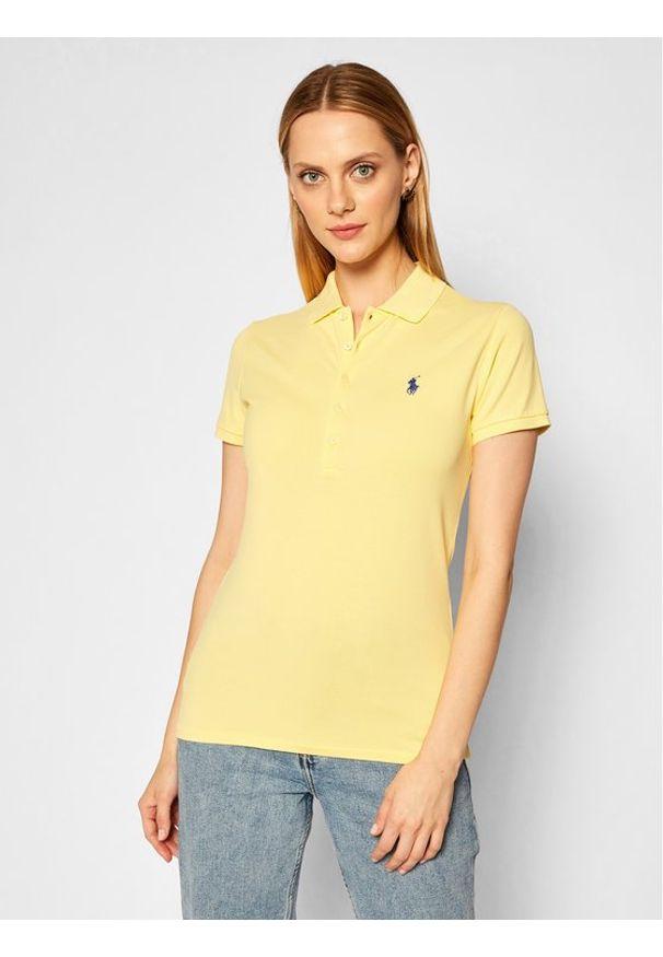 Żółta koszulka polo Polo Ralph Lauren polo