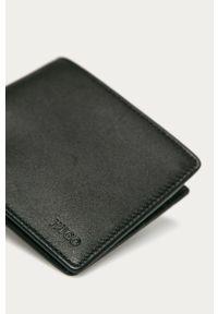 Czarny portfel Hugo gładki