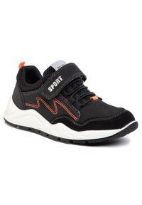 Sergio Bardi Young - Sneakersy SERGIO BARDI YOUNG - SBY-02-03-000045 601. Okazja: na spacer, na co dzień. Zapięcie: rzepy. Kolor: czarny. Materiał: skóra, zamsz, materiał. Szerokość cholewki: normalna. Styl: casual