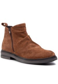 Brązowe buty zimowe QUAZI na co dzień, z cholewką, casualowe