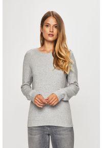 Szary sweter Vila na co dzień, casualowy