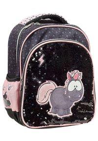 Back Me Up plecak junior Nici Jednorożec Carbon Flash. Kolor: czarny. Materiał: materiał