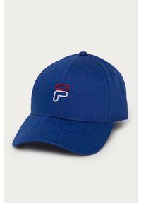 Niebieska czapka z daszkiem Fila gładkie