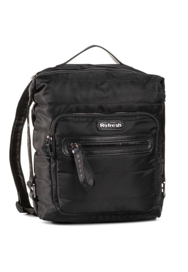 Refresh - Plecak REFRESH - 83342 Black. Kolor: czarny. Materiał: materiał