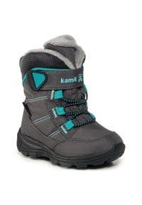 Kamik - Śniegowce KAMIK - Stance NF9125 Charcoal Blue. Kolor: szary. Materiał: materiał. Szerokość cholewki: normalna