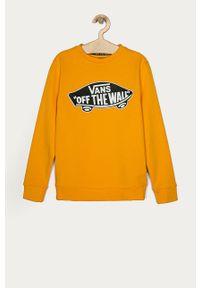 Żółta bluza Vans casualowa, bez kaptura
