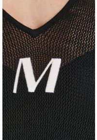 Miss Sixty - Sweter. Kolor: czarny. Materiał: dzianina. Długość rękawa: krótki rękaw. Długość: krótkie. Wzór: aplikacja