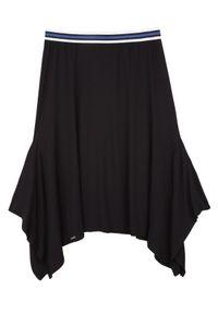 Czarna spódnica TOP SECRET w paski, na zimę, casualowa, na co dzień