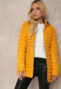 Renee - Żółta Kurtka Dwustronna Phelice. Kolor: żółty. Materiał: tkanina