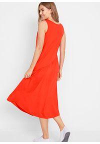Pomarańczowa sukienka bonprix asymetryczna