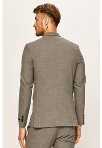 Premium by Jack&Jones - Marynarka. Kolor: szary. Materiał: tkanina. Styl: klasyczny