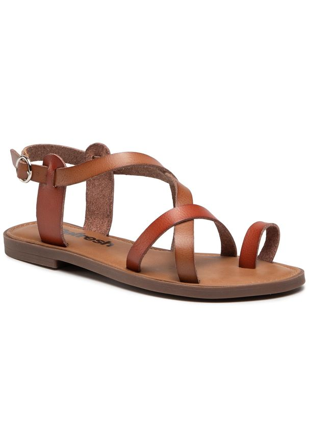 Refresh - Sandały REFRESH - 72655 Camel. Okazja: na co dzień. Kolor: brązowy. Materiał: skóra ekologiczna, skóra. Sezon: lato. Styl: casual
